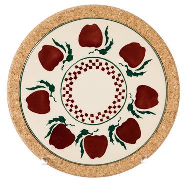 Round Trivet Nicholas Mosse Pottery Apple