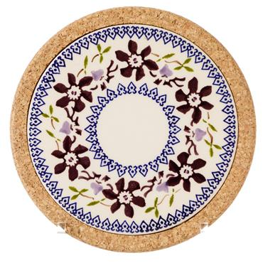 Trivet Round Clematis by Nicholas Mosse Pottery