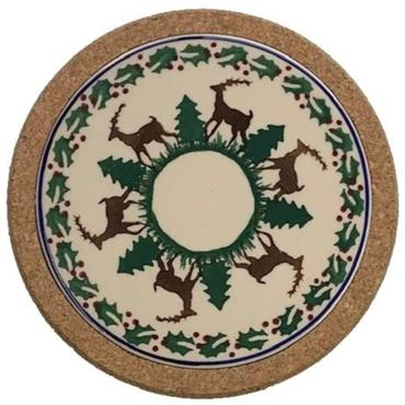 Trivet Round Reindeer by Nicholas Mosse Pottery