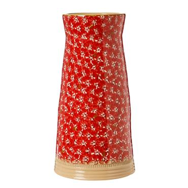 Large Tapered Vase Red Lawn