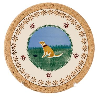 Trivet Round Dog by Nicholas Mosse Pottery