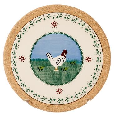 Trivet Round Hen by Nicholas Mosse Pottery