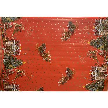 Oil Cloth - A - Red Santa