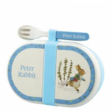 Peter Rabbit Bamboo Snack Box with Cutlery Set