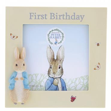 Peter Rabbit First Birthday Photo Frame
