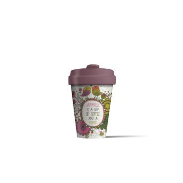 Chic mic Bamboo Cup - Coffee Happiness