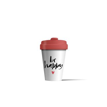 Chic mic Bamboo Cup - Happy Calligraphy