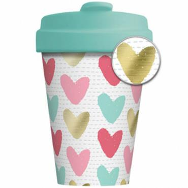 Chic mic Bamboo Cup - Happy Hearts