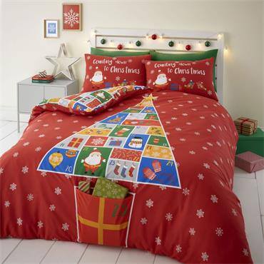 Countdown to Christmas Duvet Set from Catherine Lansfield - Double