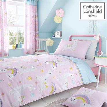 LIama-corn Duvet Cover Set by Catherine Lansfield