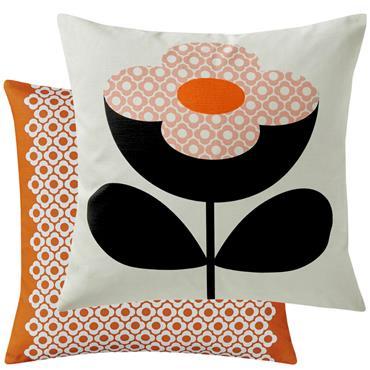Orla Kiely Buttercup Stem Cushion - Persimmon