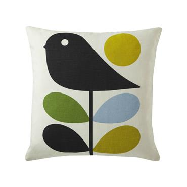 Orla Kiely Early Bird Cushion - Duck Egg