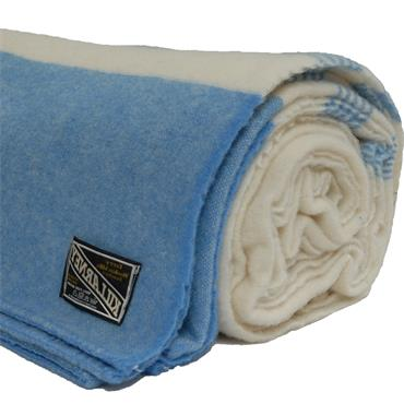 Pure New Wool Blanket - Blue