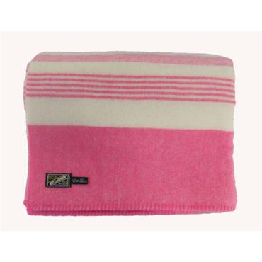 Pure New Wool Blanket - Pink