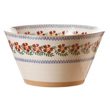 Large Angled Bowl - Old Rose