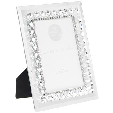 Mirror Diamante Frame 4 x 6""