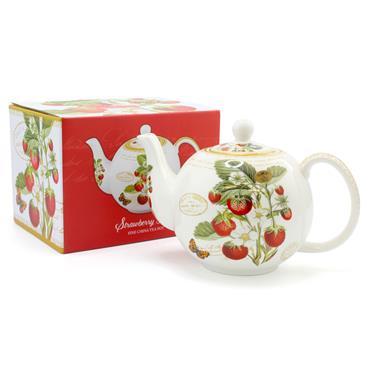 Strawberry Fayre Fine China Tea Pot