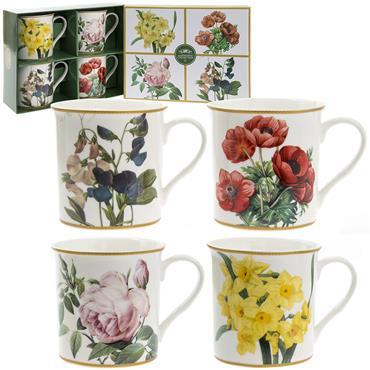 Flowers Fine China Mug Set