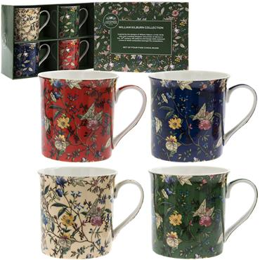 William Kilburn Fine China Mug Set