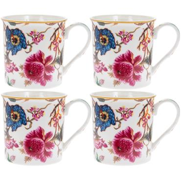 Floral China Mug set of 4