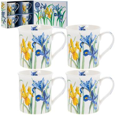Boxed Meadow Flowers China Mugs (x4)