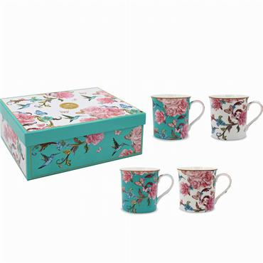 Oriental Blossom Fine China Mug Set