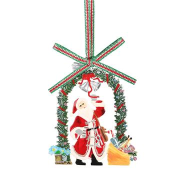 Santa with Garland Decoration - Newbridge Silverware
