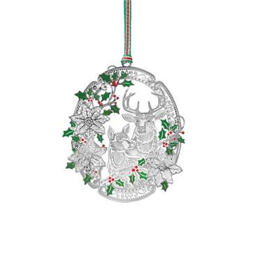 Stag and Doe Oval Hanging Decoration