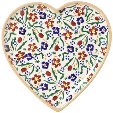 Wild Meadow Flower Medium Heart Plate by Nicholas Mosse