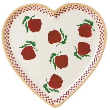 Apple Medium Heart Plate  - Nicholas Mosse Pottery