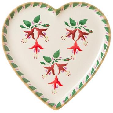 Fuchsia Medium Heart Plate - Nicholas Mosse