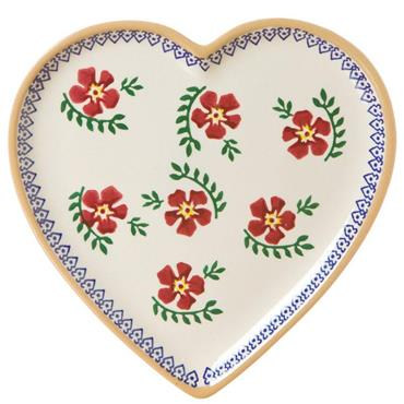 Old Rose Medium Heart Plate by Nicholas Mosse