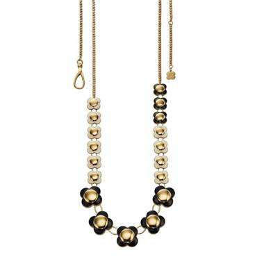 Orla Kiely Uptown Monochrome Long Flower Necklace