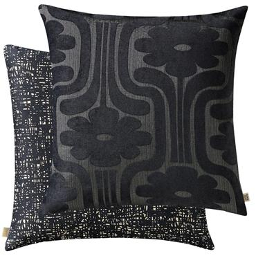 Climbing Daisy Charcoal Feather Cushion by Orla Kiely