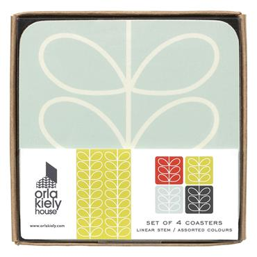 Orla Kiely Coasters Set/4 Linear Stem