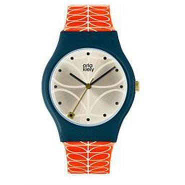 NAVY BLUE ORLA KIELY WATCH