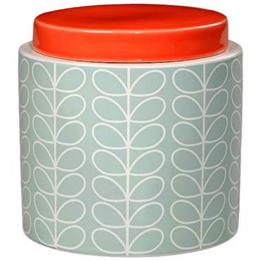 Orla Kiely Small Storage Jar Linear Stem Duck Egg