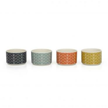 Orla Kiely Ceramic Ramekins LINEAR STEM SET/4