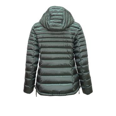 Bottle Green Puffa Jacket with detachable hood by Barbara Lebek