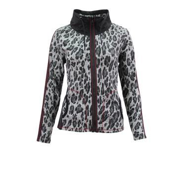 Grey Leopard Print Zipped Jacket from Barbara Lebek