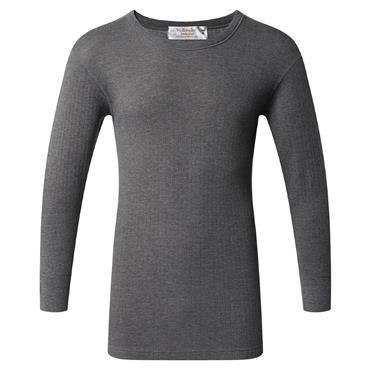 Thermal Long Sleeve Grey Top By Vedoneire