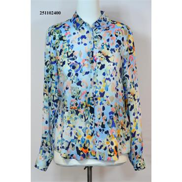 Erfo Blouse in Abstract Multi Coloured Print