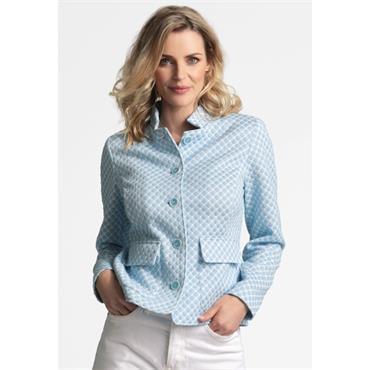 Erfo Blue/White Pattern Jacket