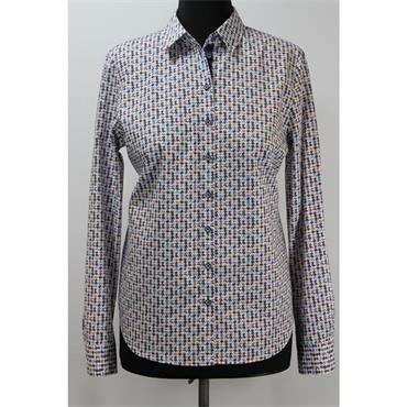 Erfo Red & White Patterned Shirt