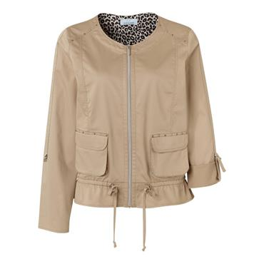 Just White Casual Beige Jacket