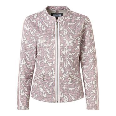 Just White Jacket - Grey, Pink & White Design