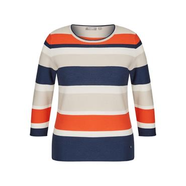 Rabe Navy, Orange, Beige & Cream Stripped Sweater