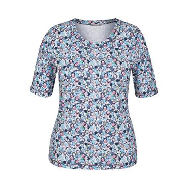 RABE Blue, Pink and White Top