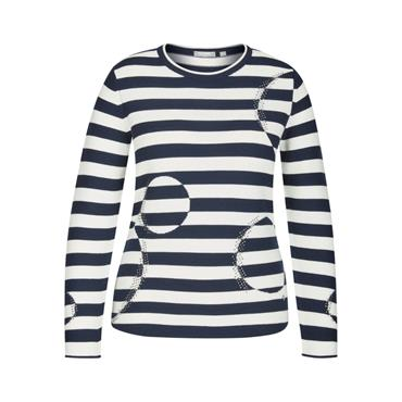 RABE Navy & White Stripped Sweater