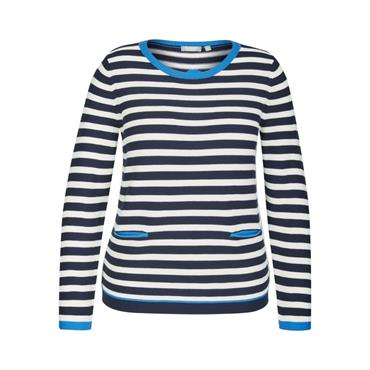 Rabe Navy & White Stripped Sweater with Blue Trim